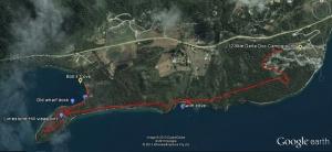 12-mile Delta to Bob's Cove track